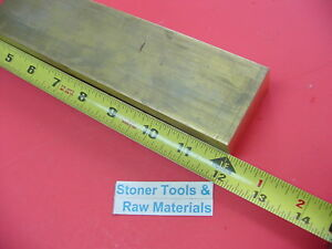 1 X 2 C360 Brass Flat Bar 12 Long Solid 1 00 Plate Mill Stock H02
