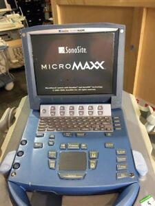 Sonosite Micromaxx Ultrasound With Cart Probes Port And 2 Probes