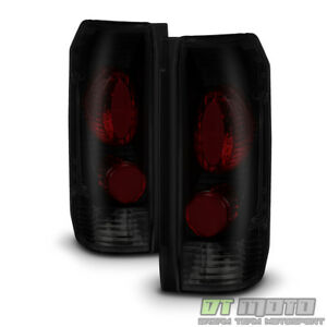 Replacement 1987 1996 Ford Bronco F150 F250 F350 Tail Lights Black Smoke Lamps