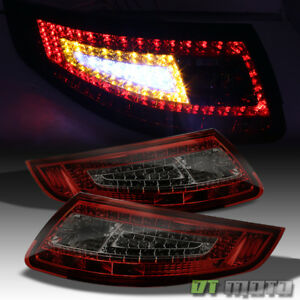 Red Smoked 05 08 Porsche 997 911 Carrera Led Tail Lights Lamps Left Right