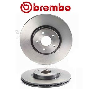 For Volvo C70 V50 L5 Pair Set Of 2 Front Brake Disc Rotors Vented 320 Mm Brembo
