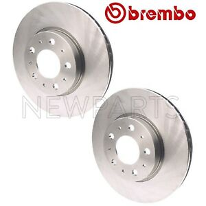 For Volvo Front Pair Set Of 2 Vented coated Disc Brake Rotor 280mm 5 Lugs Brembo