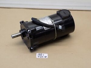used Pulloff Bodine Gear Motor 32a3bepm z2 130v 1 12hp 18 1 Ratio 139 Rpm
