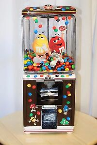 Vintage 1950s Northwestern M m s Themed Gumball Candy Machine 25 Cent