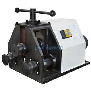 110 Volt Electric Ring Roller Tube Pipe Roll Bender Round Square Flat 1596rpm