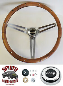 1976 1995 Jeep Steering Wheel 15 Muscle Car Walnut