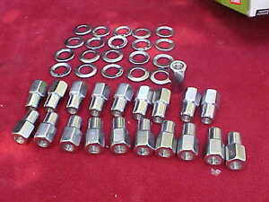 20 1 2 X20 Nhra Open End Mag Wheel Lug Nuts Cragar With Centered Washers Ccm3