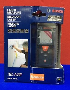 Bosch Blaze Glm 40x Laser Measure Range 135 40m Accuracy 1 16 1 5mm