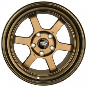 Mst Wheels Time Attack Rims 16x8 20 Bronze 5x4 5 94 98 99 04 Ford Mustang Gt V6