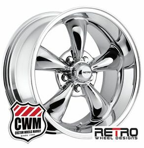 17 Inch 17x7 17x9 Chrome Wheels Rims 5x4 50 For Ford Mustang 1967 1973