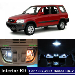 8pcs White Led Lamp Car Bulbs Interior Package Kit For 1997 2001 Honda Cr V Crv