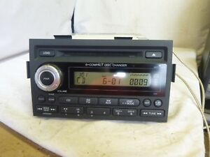 06 07 08 Honda Ridgeline Xm Radio 6 Cd Player Code 3ts1 39100 sjc a100 Jj29