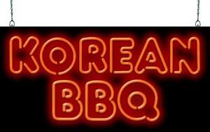 Korean Bbq Neon Sign Jantec 2 Sizes Ethnic Free Shipping Real Neon