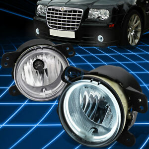Replacement Ccfl Halo Ring Fog Light lamp Set Clear For 05 10 Chrysler 300 srt8