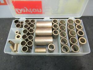 Dayton Oilite Flange Bronze Bushing Spacer Sleeve Shim Kit 46 Pieces