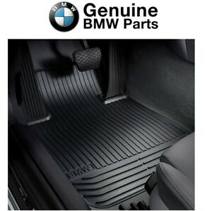For Bmw E82 E88 1 Series Front Black Rubber All Weather Floor Mats Genuine