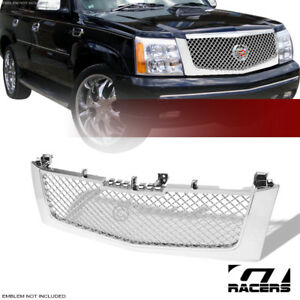 For 2002 2006 Cadillac Escalade Chrome Mesh Front Hood Bumper Grill Grille Guard