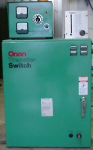 Onan Transfer Switch With Battery Float Charger And Alarm 125 Amp 3ph 4 wire
