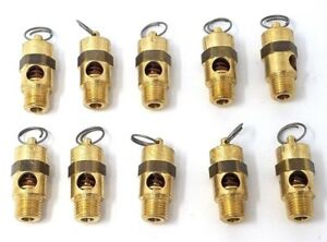 1 10 Pcs 1 4 Npt 200 Psi Air Compressor Safety Relief Pressure Valve Pop Off