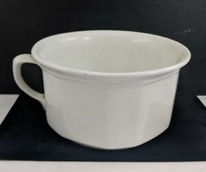 Antique Vintage Bristol Chamber Pot Plain White Porcelain Straight Sides England