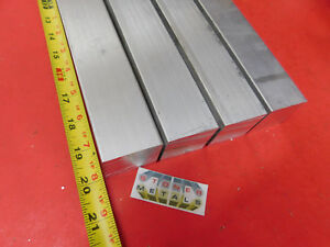 4 Pieces 1 1 2 X 1 1 2 Aluminum Square 6061 T6511 Solid Extruded Bar 20 Long