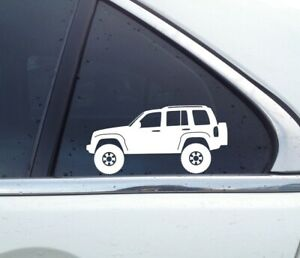 2x Lifted Offroad Truck Stickers For Jeep Liberty Kj 2002 2007