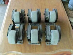 Six Aerospace Industry Heavy Duty Shock Absorbing Plate Mount 2 5 Casters