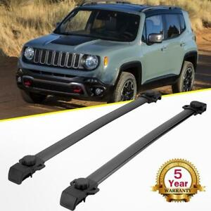 For 2014 2018 Jeep Renegade Roof Rack Cross Bar Top Luggage Cargo Carrier Black