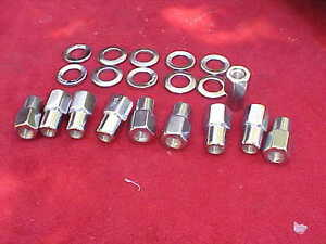10 7 16 X 20 Nhra Open End Mag Wheel Lug Nuts Cragar With Centered Washers Ccm19