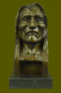 Handcrafted Frederic Remington Bronze The Savage Real 100 Bronze Indian Deal