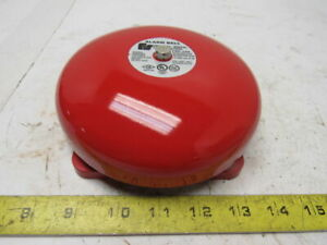 Federal Signal Fsf106 024r 24v Red 6 Fire Audible Tone Bell Fire Alarm