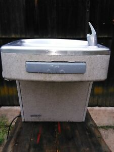 Chiller Drinking Fountain Oasis With Wall Bracket Model P8am e100 1 Ebco