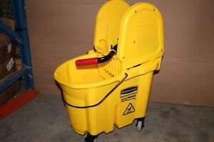 Rubbermaid Commercial Products Wavebrake Down Press Mop Bucket And Wringer Combo