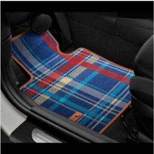 New Front Speedwell Blue Carpeted Floor Mats Genuine For Mini Cooper F56 F57