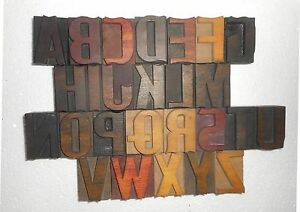 Letterpress Letter Wood Type Printers Block a To Z Size 50 M m My3898
