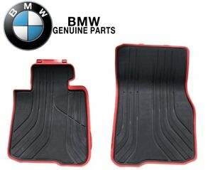 For Bmw F32 F33 F36 428i 435i M4 Front Black Red Rubber Floor Mat Set Sport Line
