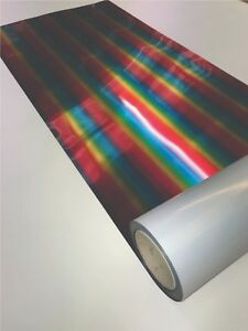 Rainbow Chrome T shirt Vinyl Heat Press Transfer Film A4 1m Rolls