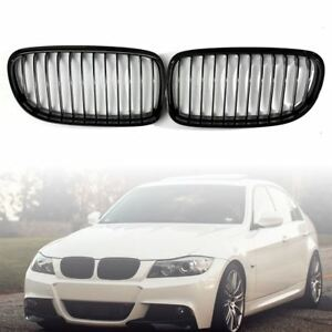 Abs Gloss Black Hood Front Kidney Grille Grill For Bmw E90 328i 335i 4d 09 12 Us