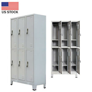 6 Compartment Metal School Gym Storage Employee lockers Cabinets Locker D8g6