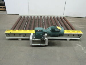1hp Heavy Duty Power Roller Case Pallet Conveyor 56 w X 84 l 55fpm 460v 3ph