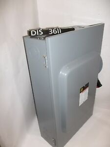 Square D 600 Volt 200 Amp Fused Disconnect Safety Switch dis3611