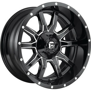 18x9 Black Fuel Vandal D627 Wheels 6x135 6x5 5 1 Fits Chevrolet K2500