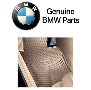 For Bmw E85 E86 Z4 Set Of 2 Front Beige Rubber All Weather Floor Mats Genuine