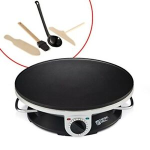 Electric Crepe Maker Professional Machine Griddle Non Stick Cooktop Plate 13