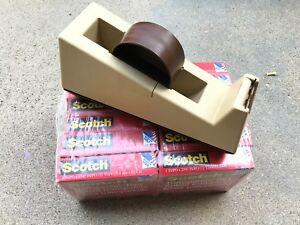 Lot Of 12 Scotch 3m clear Tapes new 1 Scotch Tape Dispenser use Value 150