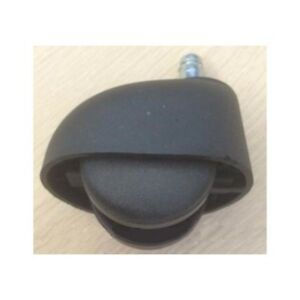 Pack Of 100 Covered Black 2 Inch Twin Wheel Caster 75 lb Load Capacity