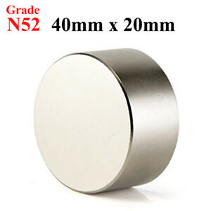N52 Large 40mm X 20mm Neodymium Rare Earth Magnet Big Super Strong Huge Size