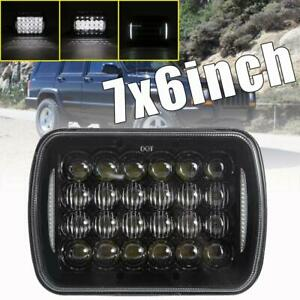 5x7 7x6 Cree Led Headlight Halo Drl For 86 95 Jeep Wrangler Yj 84 01 Cherokee Xj
