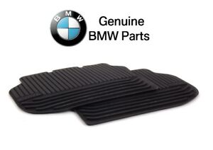 For Bmw F10 5 Series 2011 2016 Rear All Weather Black Rubber Floor Mats Genuine