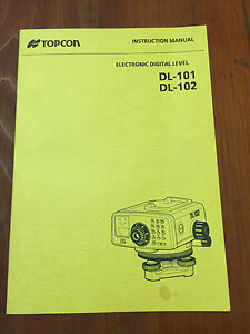 Topcon Digital Level Dl 101 Dl 102 Instruction Manual Surveyor